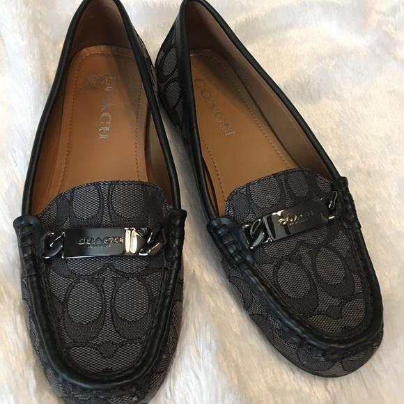 6f2d6438641 Coach Shoes - Authentic Coach Canvas Loafers